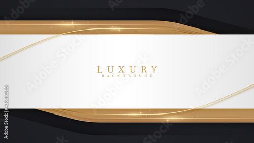 Fotografiet Luxury scene white overlapping brown on black color