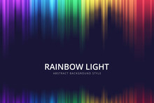 Abstract Vertical Rainbow Motion Light Background Vector Design