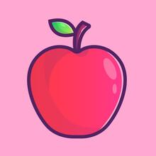 Apple Cartoon Icon Illustration