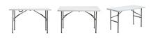 Folding Table On White Background.