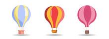 Hot Air Balloon Vector Clip Art Set. Hot Air Balloon Vector Clip Art Set. Hot Air Balloon Vector Clip Art Set.