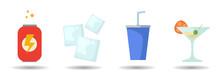 Soda Vector Clip Art Set. Energy Drink, Cocktail, Ice Cubes. Soda Vector Clip Art Set. Energy Drink, Cocktail, Ice Cubes. Soda Vector Clip Art Set. Energy Drink, Cocktail, Ice Cubes.