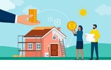 Couple Receiving A Home Improvement Grant
