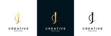 Minimalist Line Art Letter JC Logo.