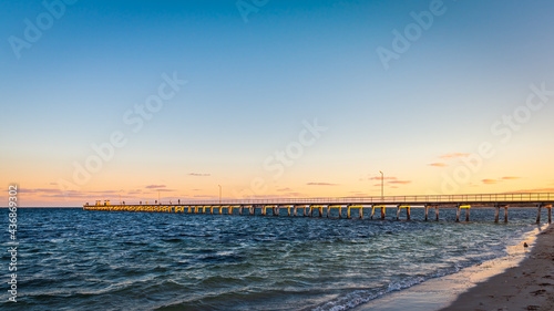 Fotografie, Obraz Iconic Marion Bay jetty at sunset during summer season, Yorke Peninsula, South A