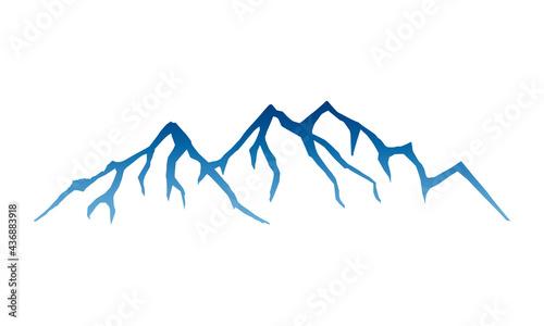 Fotografia Cresta de montaña con muchos picos, estilo azul
