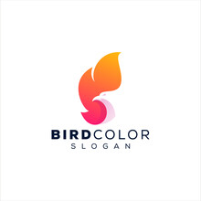 Phoenix Bird Gradient Logo Design