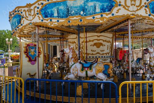 Canvastavla Amusement park on Black Sea embankment in Arkhipo-Osipovka