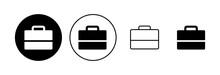 Briefcase Icon Set. Suitcase Icon. Luggage Symbol.