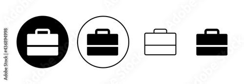 Photo Briefcase icon set. suitcase icon. luggage symbol.