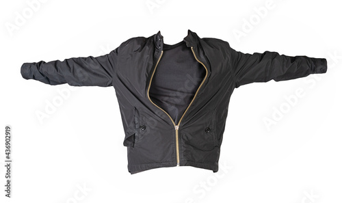 Fotografia men's bomber jacket and t-shirt isolated on a white background