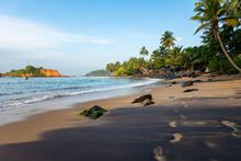 Sandy Coastline Of Sri Lanka