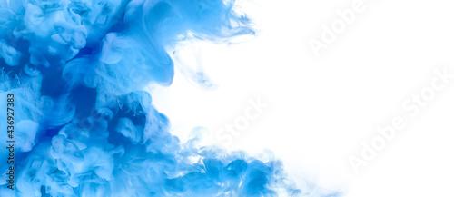 Fotografie, Obraz Blue Acrylic Ink in Water
