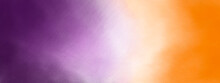 Watercolor Background In Tie Dye Style, In Orange And Purple For Halloween Decoration.