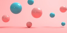 3D Render Of Abstract Spheres