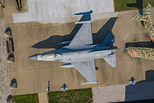 Vincennes, United States - 18 July 2020: Aerial View Of A Jet Airplane At Indiana Military Museum In Vincennes, United States.