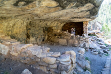 Ancient Cliff Dwellings Along The Island Trail In Walnut Canyon National Monument Near Flagstaff Arizona