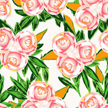 Pink Rose Marker Vector Seamless Pattern. Peony
