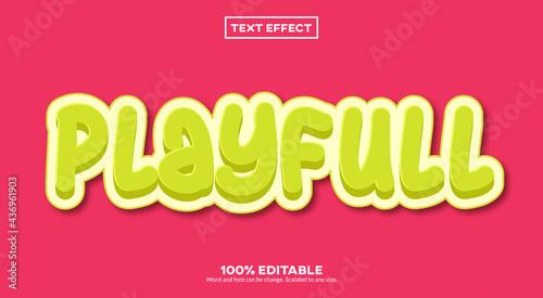 Slika na platnu Playfull Text Effect