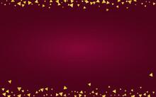 Golden Triangle Light Burgundy Background.