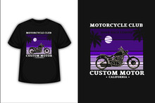 T-shirt Motorcycle Club Road Race Legend Custom Motor Color Purple Gradient