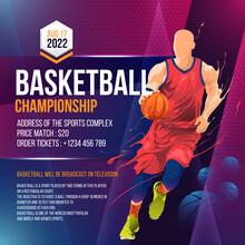 Basketball Tournament Social Media Post Flyer Template