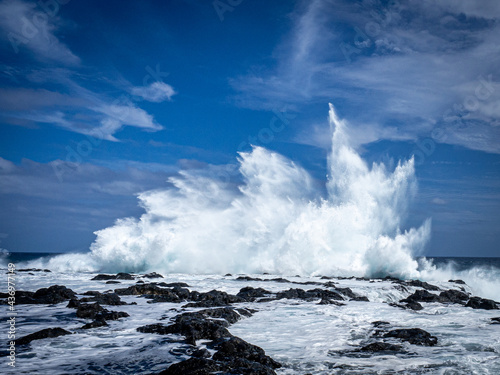 Fotografia Houle - grosse vague à la Réunion Océan Indien