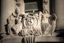 Sculptures On Building Facade In Buenos Aires