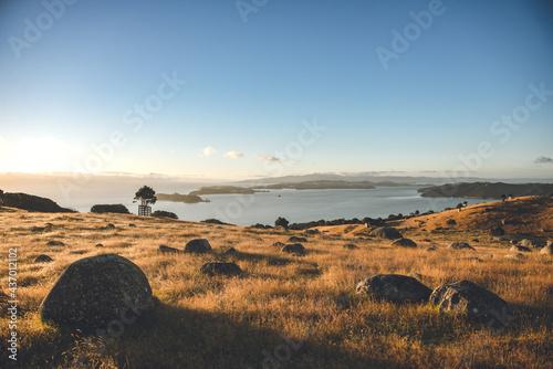 Canvas Sunrise in Stony Batter Historic Reserve, Waiheke Island, Auckland, New Zealand