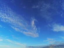 Blue Cloudy Sky. Abstract Nature Background.