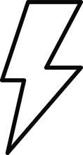 High Voltage Sign. Danger Symbol. Black Arrow Isolated