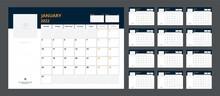 2022 Calendar Planner Set For Template Corporate Design Week Start On Monday.