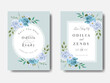 Wedding Cards Template Floral Design