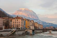 Grenoble Im Winter, Haute-Savoie, Frankreich