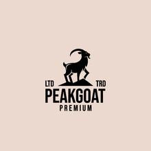 Premium Mountain Goat Vector Logo Design