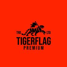 Premium Tiger Flag Vector Logo Design