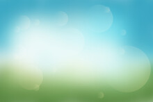Colorfull Abstract Green Blue Background. Light Bokeh For Eco Friendly Wallpaper Or Your Design Ideas.