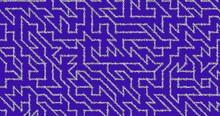 Purple Pattern Maze Background Wallpaper 3d Illustration