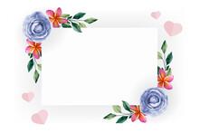 Frame, Flower, Border, Floral, Pink, Card, Nature, Illustration, Design, Green, Art, Leaf, Decoration, Flowers, White, Red, Spring, Pattern, Rose, Invitation, Paper, Holiday, Birthday, Color, Summer