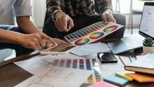Designer Brainstorming Application For Mobile Creative Digital. User Experience UX. User Interface Design UI