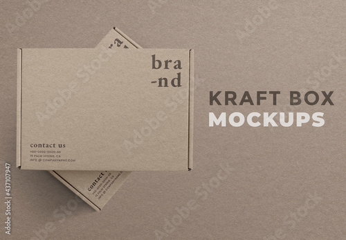 Kraft Box Packaging Mockup