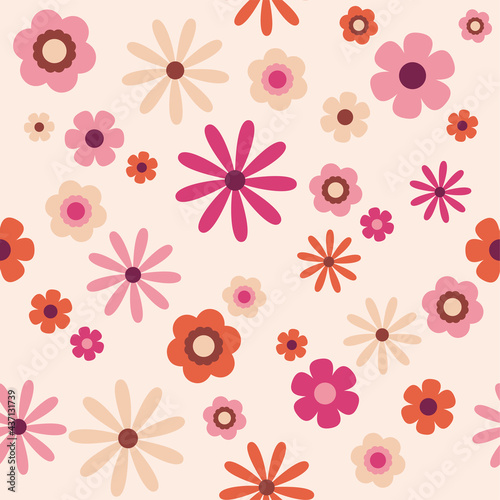 Tapety kolonialne  70-39-s-indie-retro-estetyczny-rozowy-pomaranczowy-i-miekki-neutralny-bezowy-bez-szwu-flower-power-kwiatowy-powtarzajacy-sie-wzor