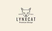 Lines Head Animal Sphynx Cat Logo Vector Symbol Icon Design Graphic Illustration