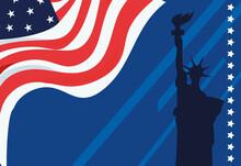 Liberty Statue Card