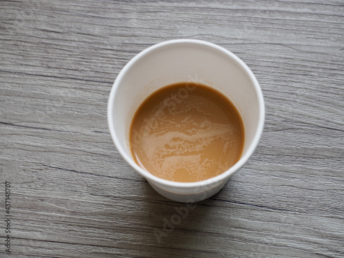 Leinwand Poster 종이컵에 담긴 커피믹스