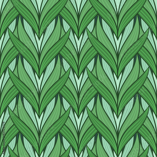 Papel de parede Seamless pattern with tulips in flat modern style