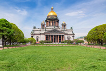 Saint Isaac's Cathedral In St Petersburg On Summer Time, St Petersburg, Russia
