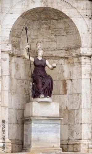 Obraz na plátně Sculpture of the goddess Minerva - Jubilant Rome