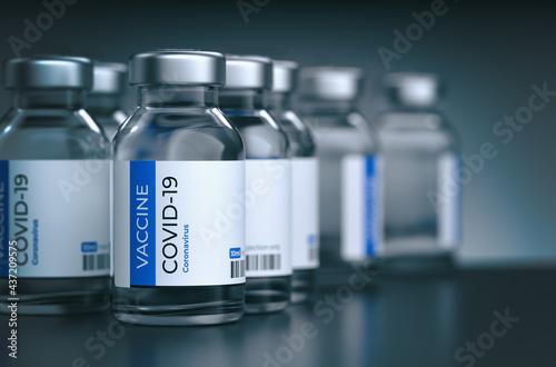 Billede på lærred COVID-19 vaccination Concept