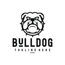 Angry Bulldogs Lineart Logo Tamplate
